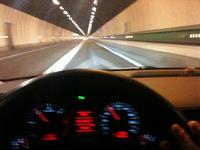 tunnel monte bianco in auto